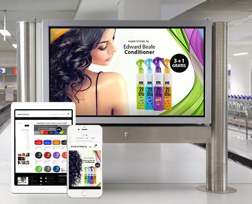 Haar-Store.nl - Huisstijl, Website & Campagne